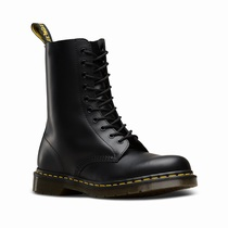 Dr Martens 1490 Smooth - Férfi Gumicsizma Fekete (ISMX7DVL)